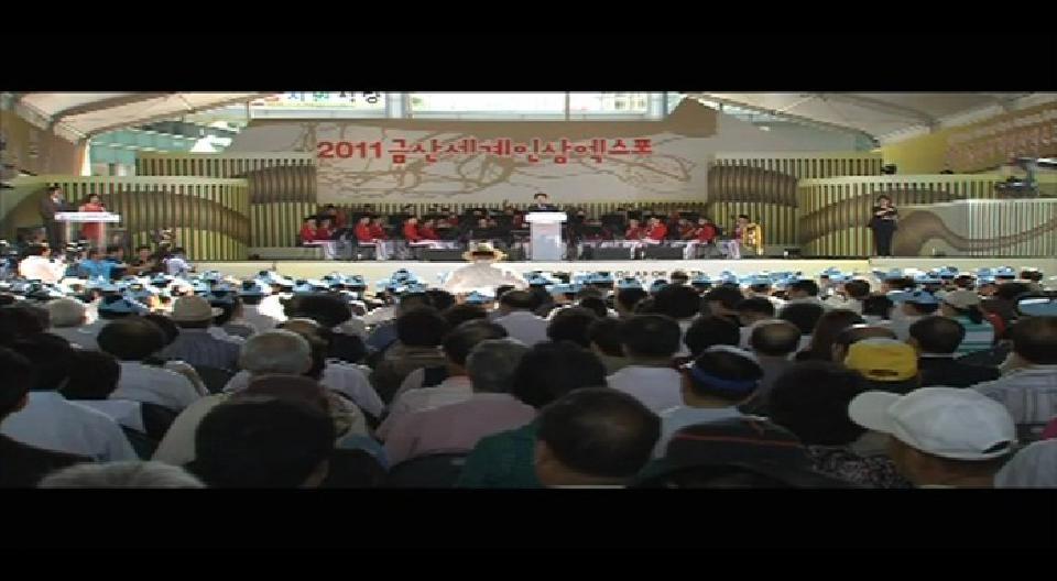 2011 금산세계인삼엑스포 개막식 충청남도 정무부지사 축사