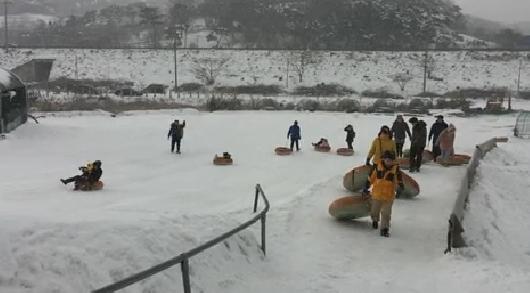 [영상]마을기업에서 운영하는 홍성 왕대골 눈썰매장