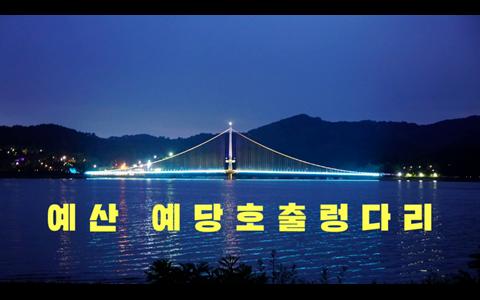 예산 예당호 출렁다리 생생 영상(야경)