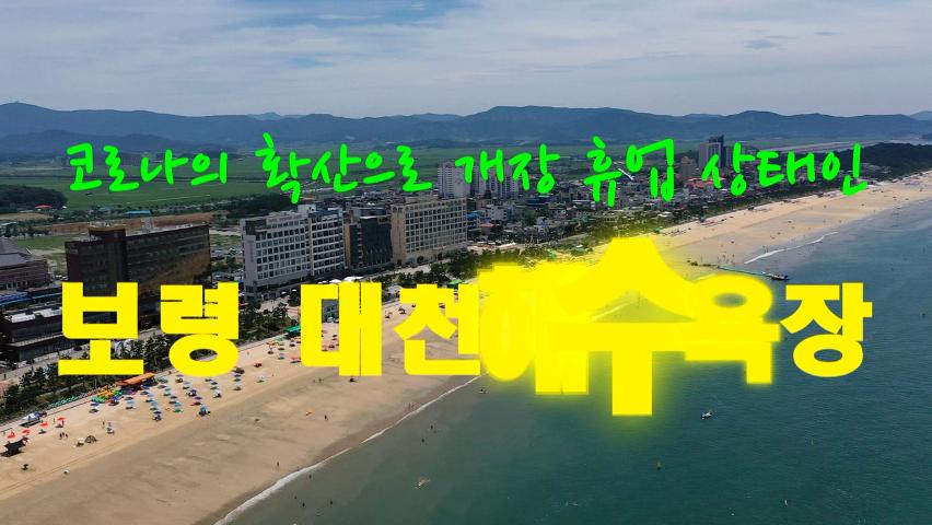코로나의 확산으로 개장 휴업 상태인 보령 대천해수욕장